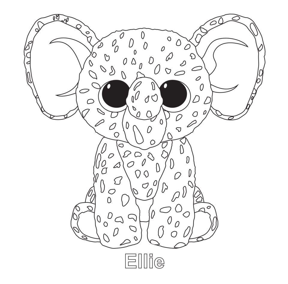 Ellie the Elephant TY Beanie Boo Beanie boo birthdays