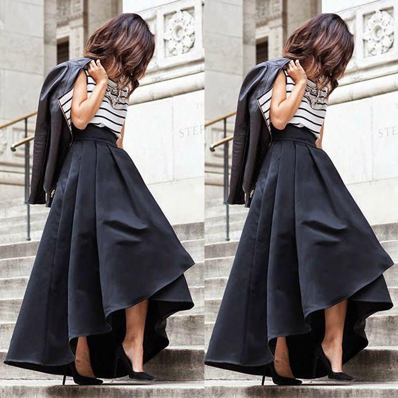 d7281b69ff010 Vintage Satin Party Princess Celebrity Skirts Women Ladies Prom Long Skirt  Dress  Unbranded  Asymmetrical. Women s Vintage Stretch High Waist ...