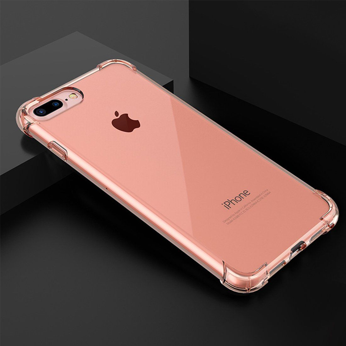 Everstars for iphone 8 plus clear casesoft material