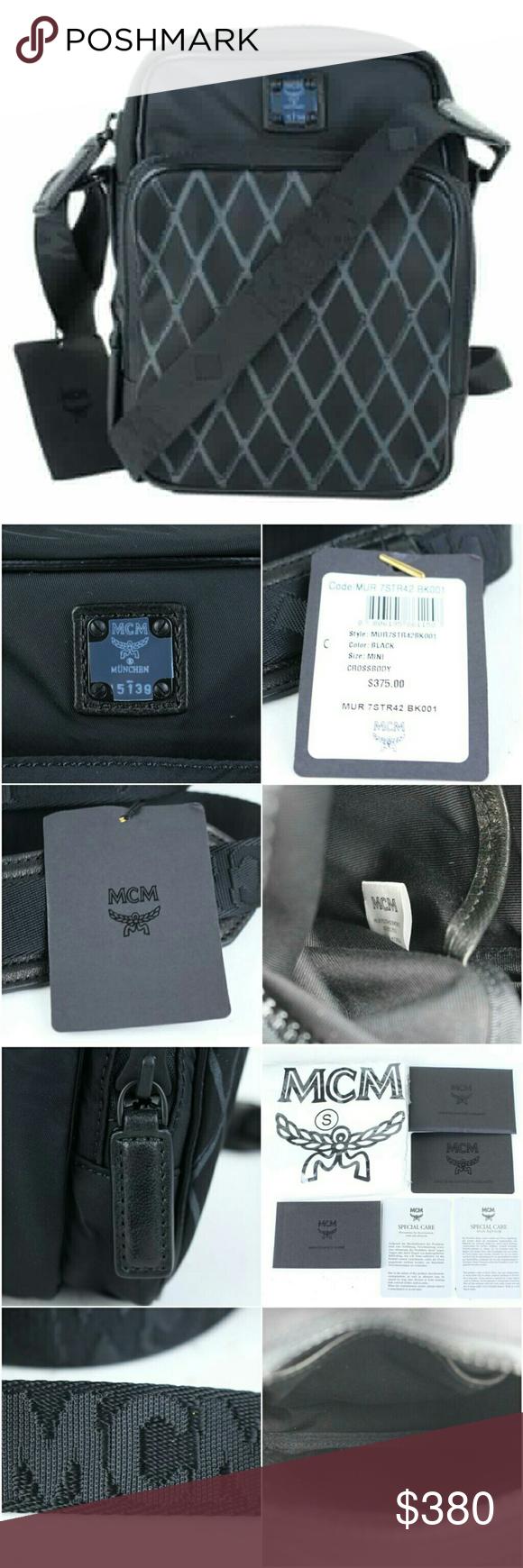 3cc9b111ed MCM Nylon Mini 3mcj922 BLACK Cross Body Bag
