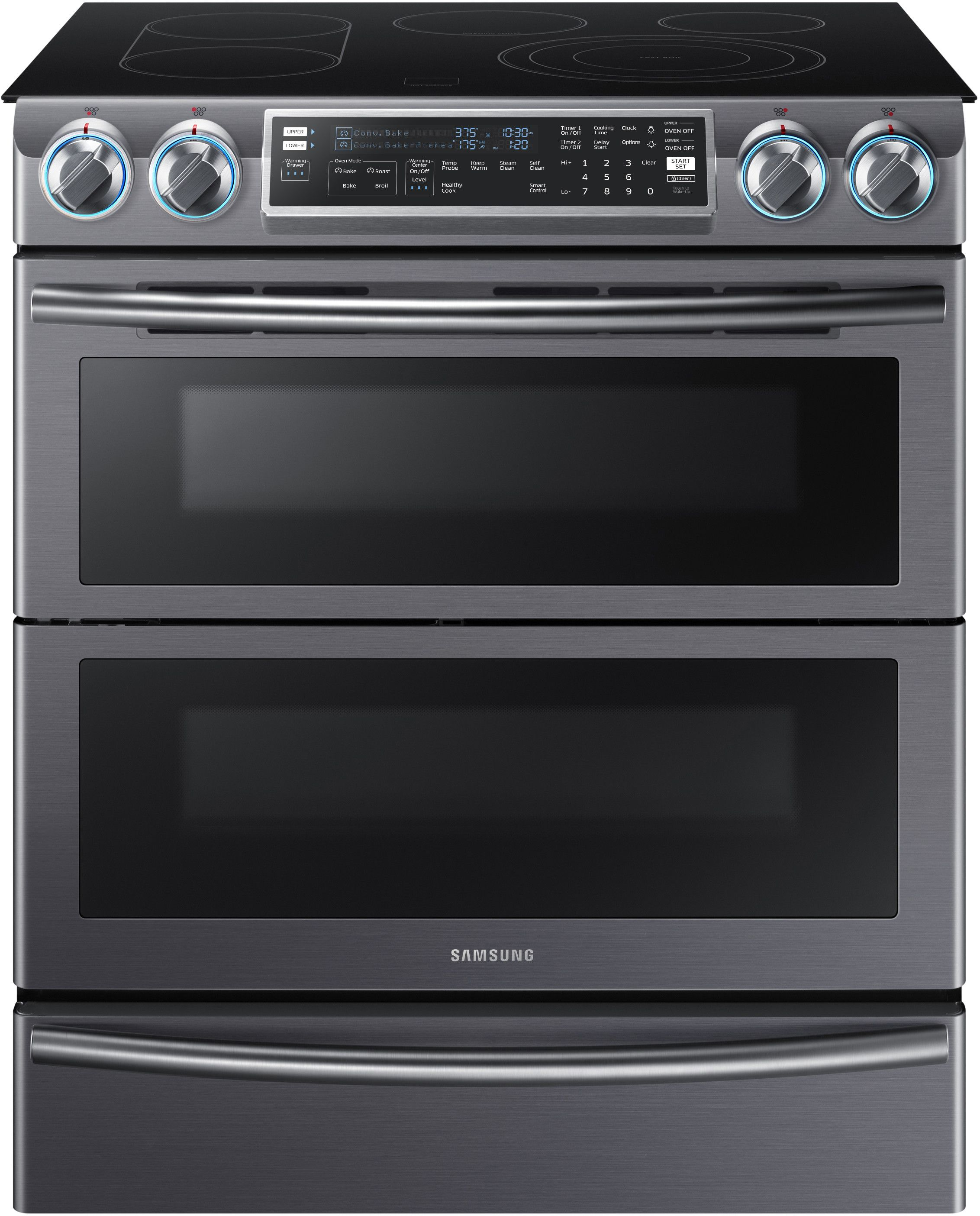 Samsung NE58K9850WG 30 Inch Flex Duo Slide In Electric Range with