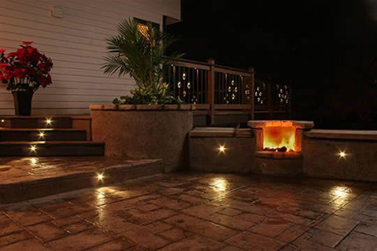 Outdoor Recessed Lighting on Patio Dream Gardens, Patios, Outdoor