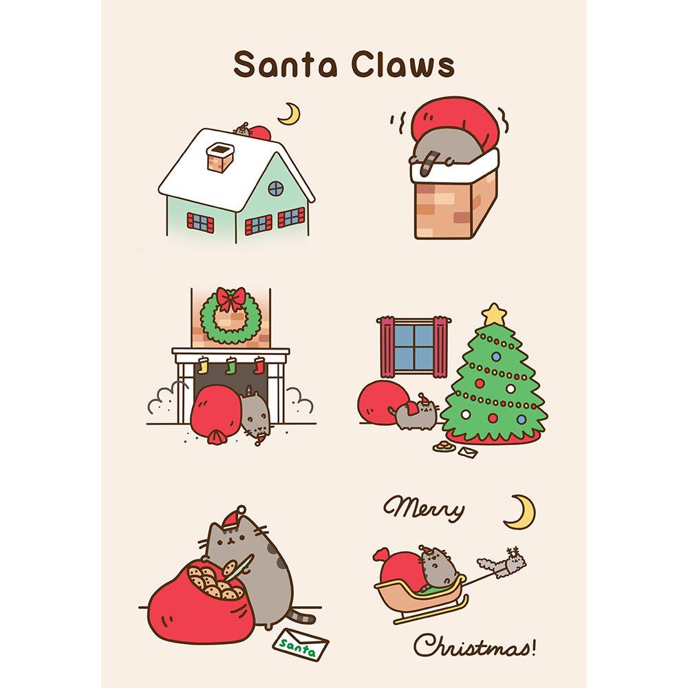 Pusheen Christmas.Pusheen Santa Claws Card Pusheen Pusheen Christmas