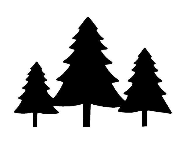 Wild One Invitation Template Free Greetings Island Pine Tree Silhouette Tree Stencil Tree Silhouette