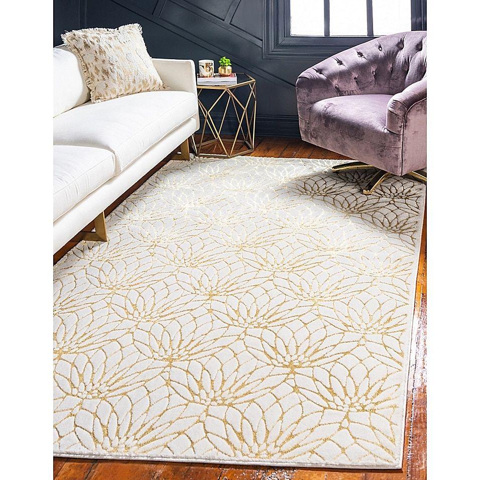 Marilyn Monroe Dahlia Glam Powerloomed Rug Bed Bath Beyond In 2021 Living Room Area Rugs Gold Living Room Unique Loom