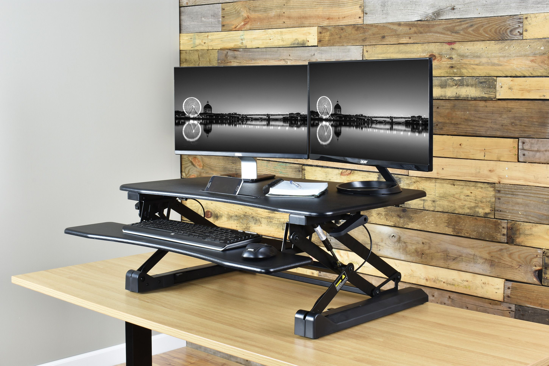VIVO Deluxe Height Adjustable Standing Desk. | Desks | Pinterest