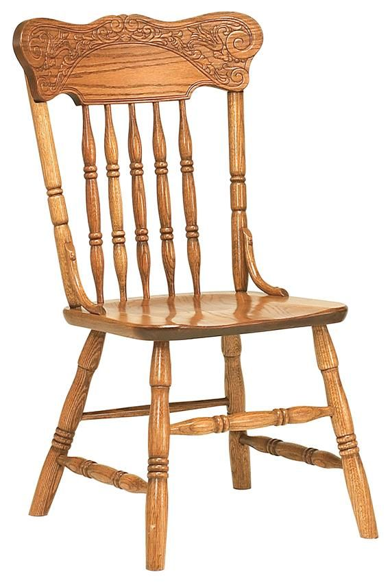 Spring Meadow Pressback Amish Dining Chair Country Style