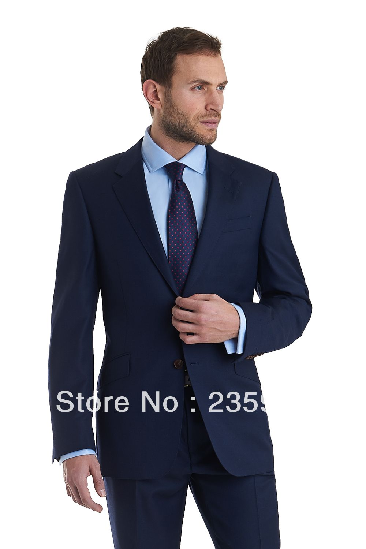 custom-made-men-groomsmen-suits-for-wedding-groom-wear-navy-two ...