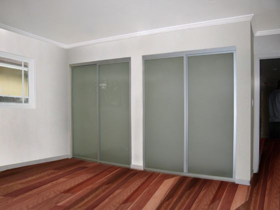 Frosted Glass With Silver Aluminum Frames Hmmm Possible Sliding