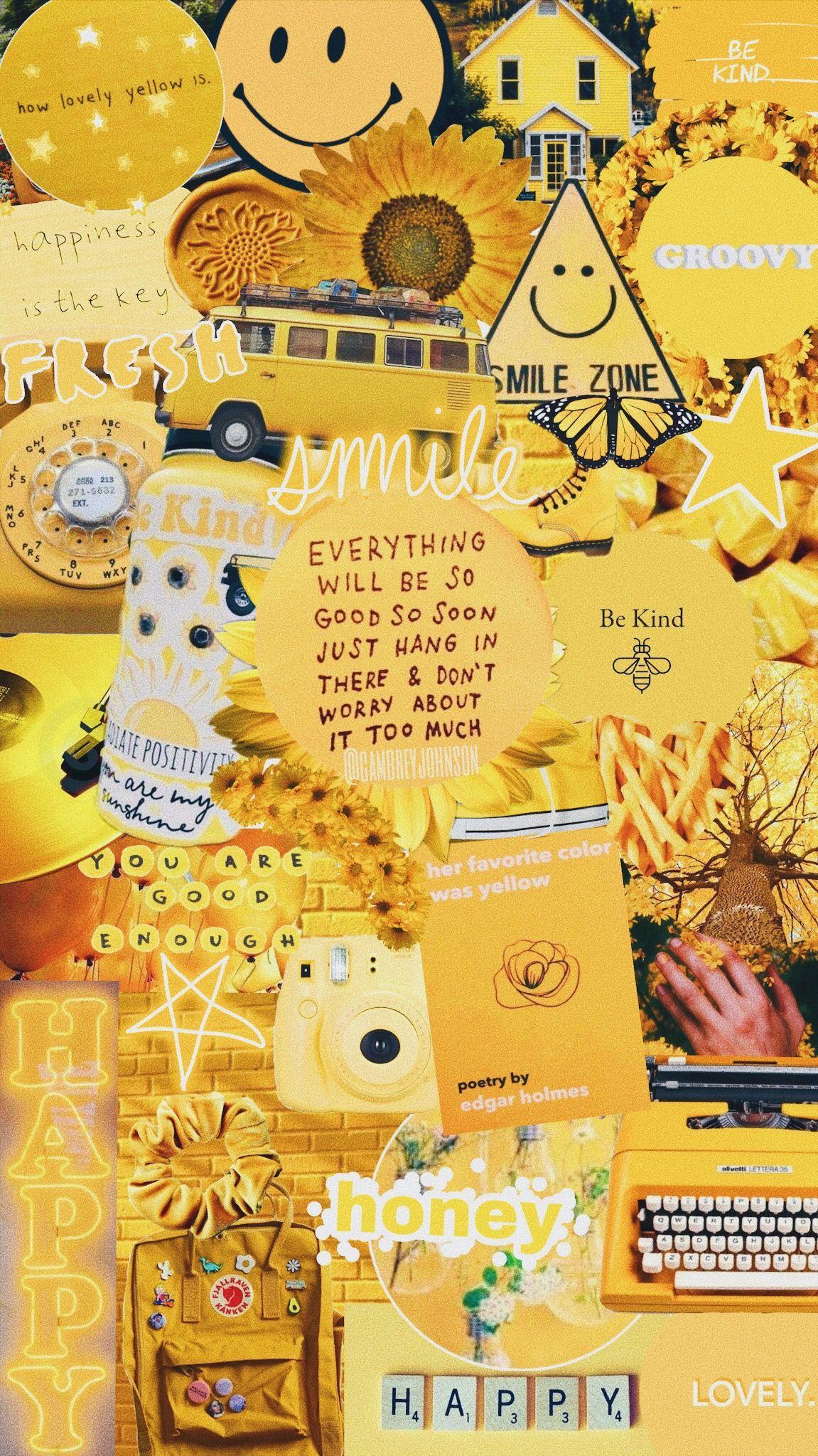 Yellow Cute Wallpaper Pastel Tumblr Wallpaper Sayings 3 Art