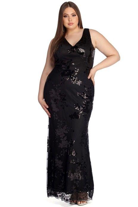 caac9506e4b Plus Nima Floral Sequin Dress Floral Sequin Dresses