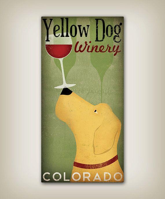Personalized - Customizable - Yellow Dog LABRADOR Cellars Vineyard ...