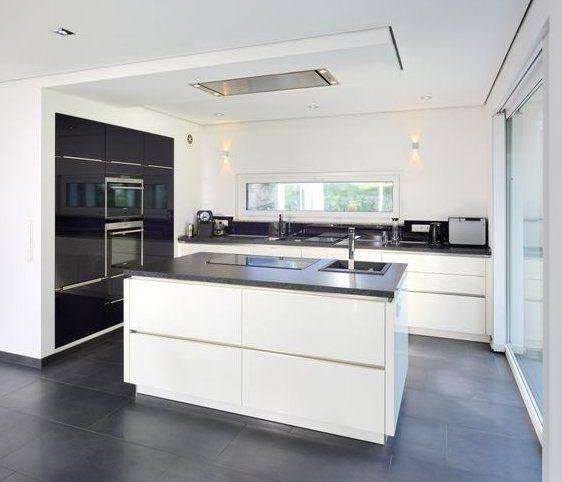 Respekta cucina singola Kb180ww larghezza 180 cm, con piano di cottura doppio, bianco ...