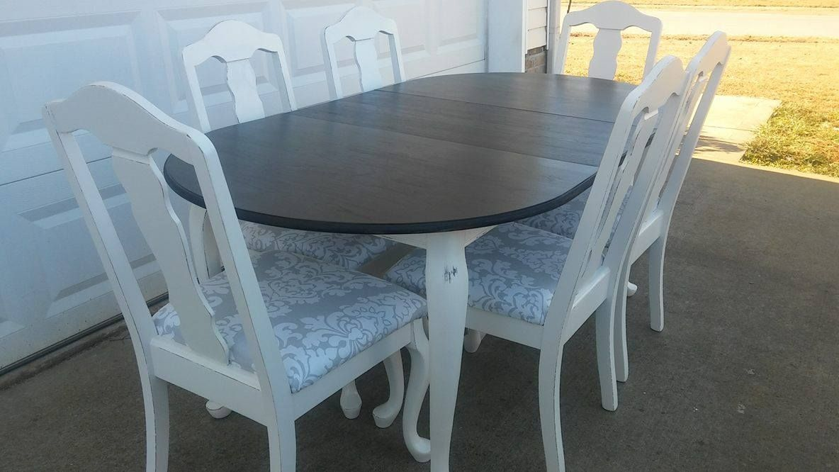 Beautifully refinished Queen Anne table with 6 chairs. I refinished ...