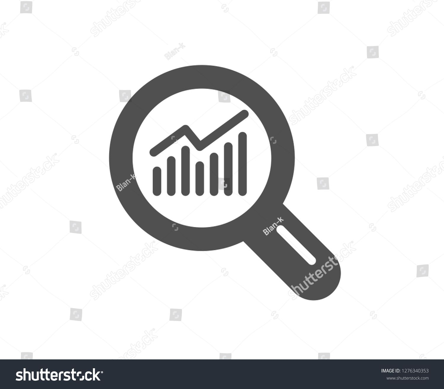 Chart Icon Report Graph Or Sales Growth Sign In Magnifying Glass