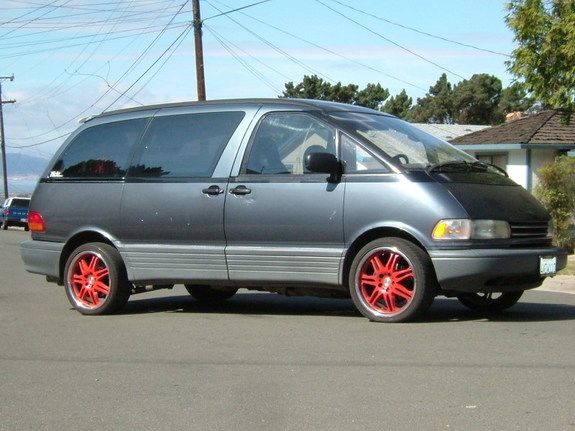1992 toyota previa red rims i have a thing for red rims ask toyota publicscrutiny Gallery