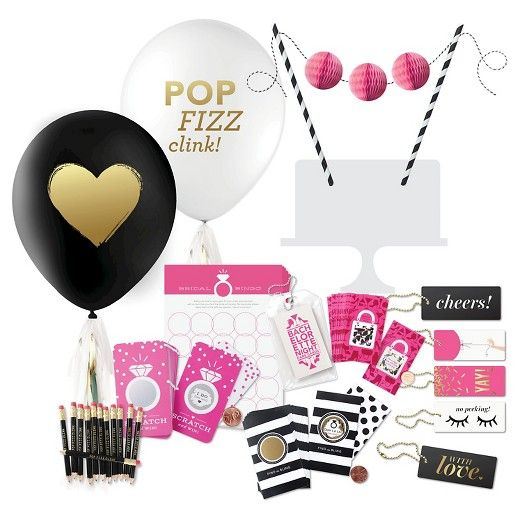 Inklings Paperie Pink Black Bridal Shower Collection