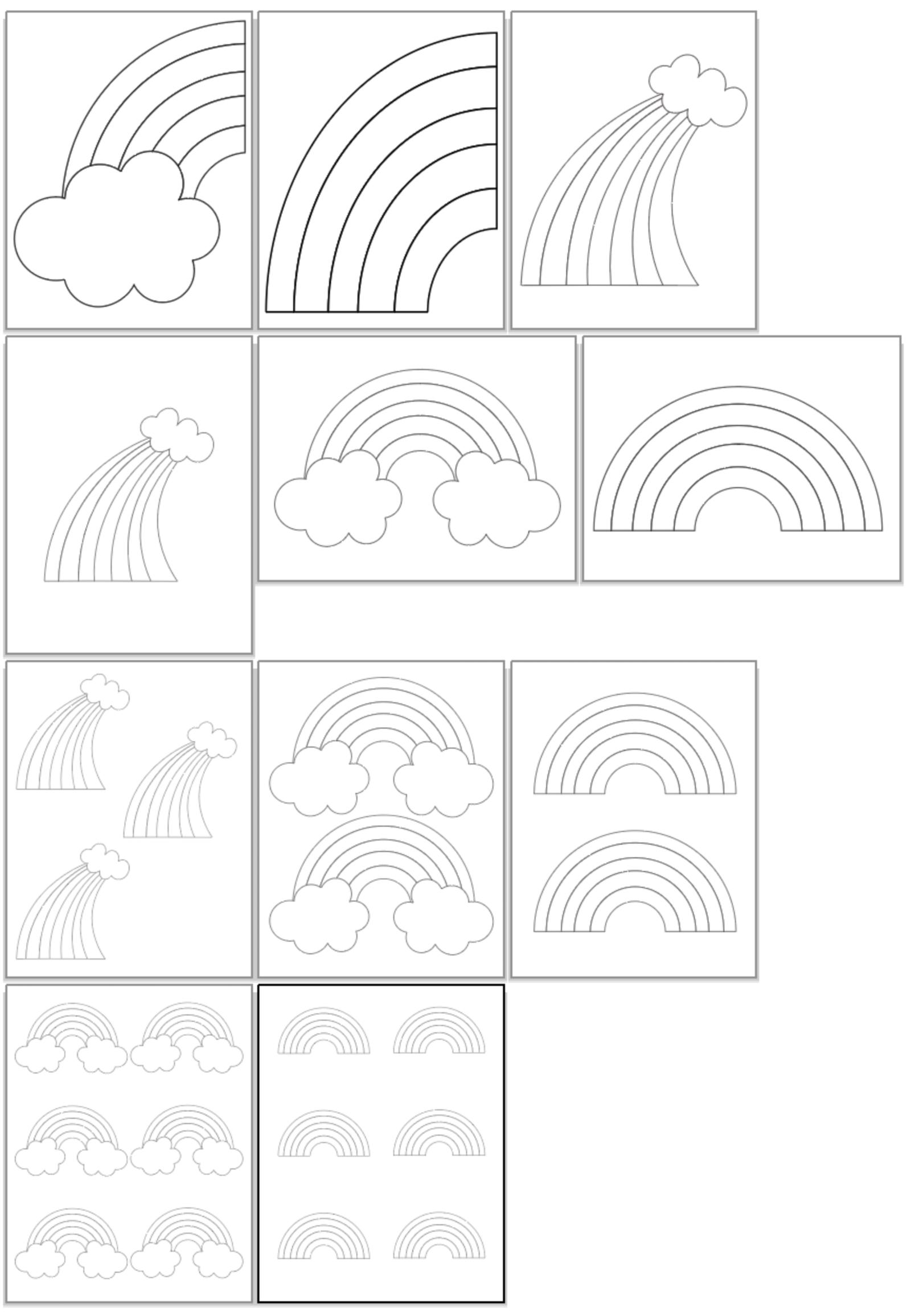 Printable Rainbow Templates in 2020