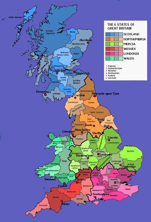 England Maps