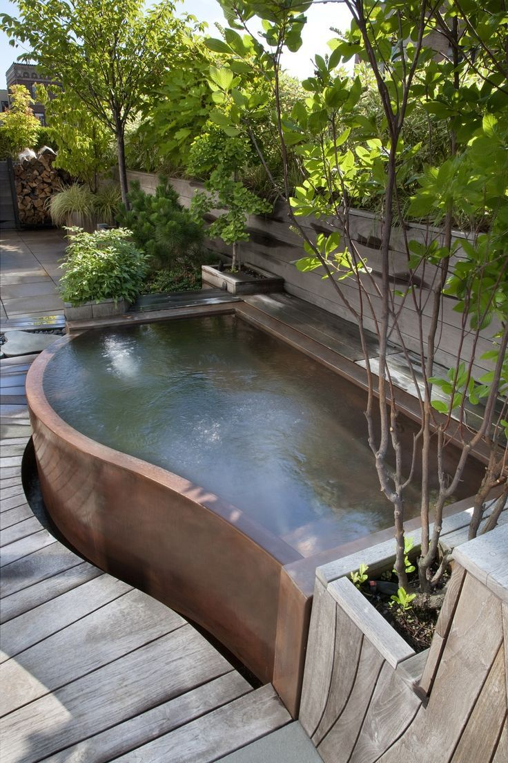 Copper Hot Tub From Diamond Spas Backyard Hot Tub Backyard Backyard Pool