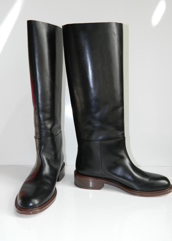 36b0085156f Celine Riding Boot Tall Black Leather Classic Pull On NIB $1400 38 #Celine  #RidingEquestrian