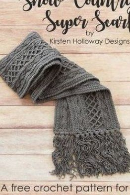 Crochet a richly textured scarf for men  women or teens with this free crochet p...