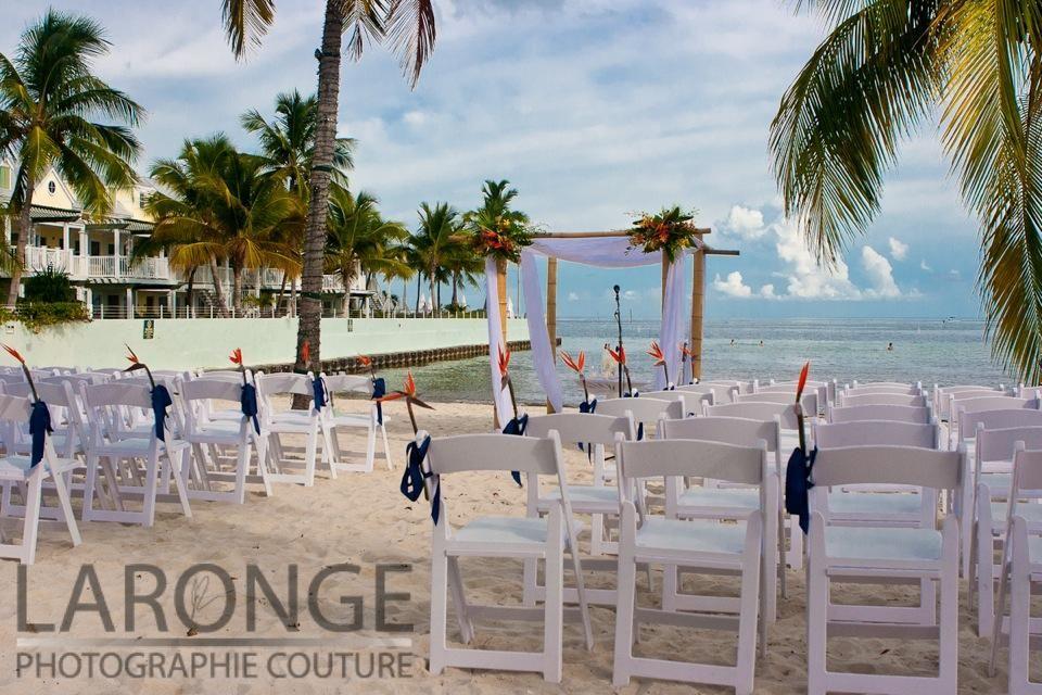 Key West Beach Wedding Setup Island Style Weddings Soiree Key