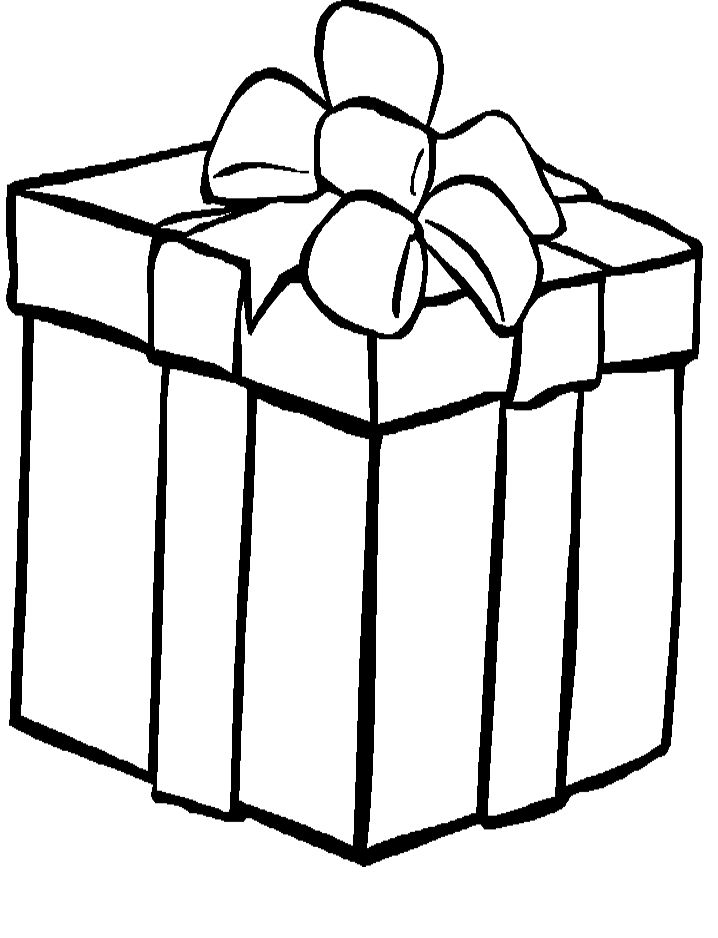 Presents Coloring Pages Christmas Present Coloring Pages