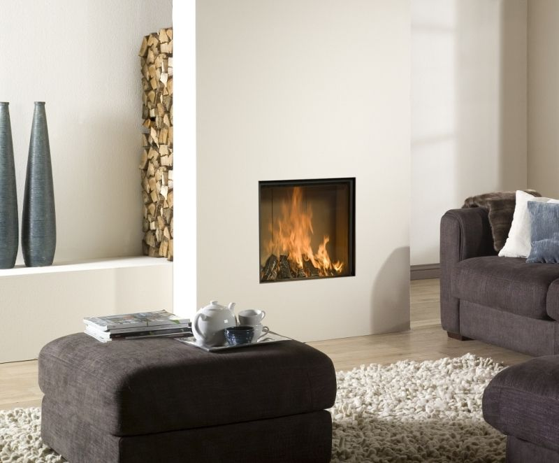 De open haard fireplaces pinterest fire places - Deco moderne open haard ...