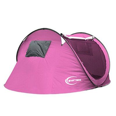34 person Large Automatic Pop Up Family C&ing Tent Easy Fold back Shelter Pink *** More info could be found at the image url.  sc 1 st  Pinterest & Qianle Tente Dôme Familiale Waterproof pour 3-4 Personnes Tente de ...