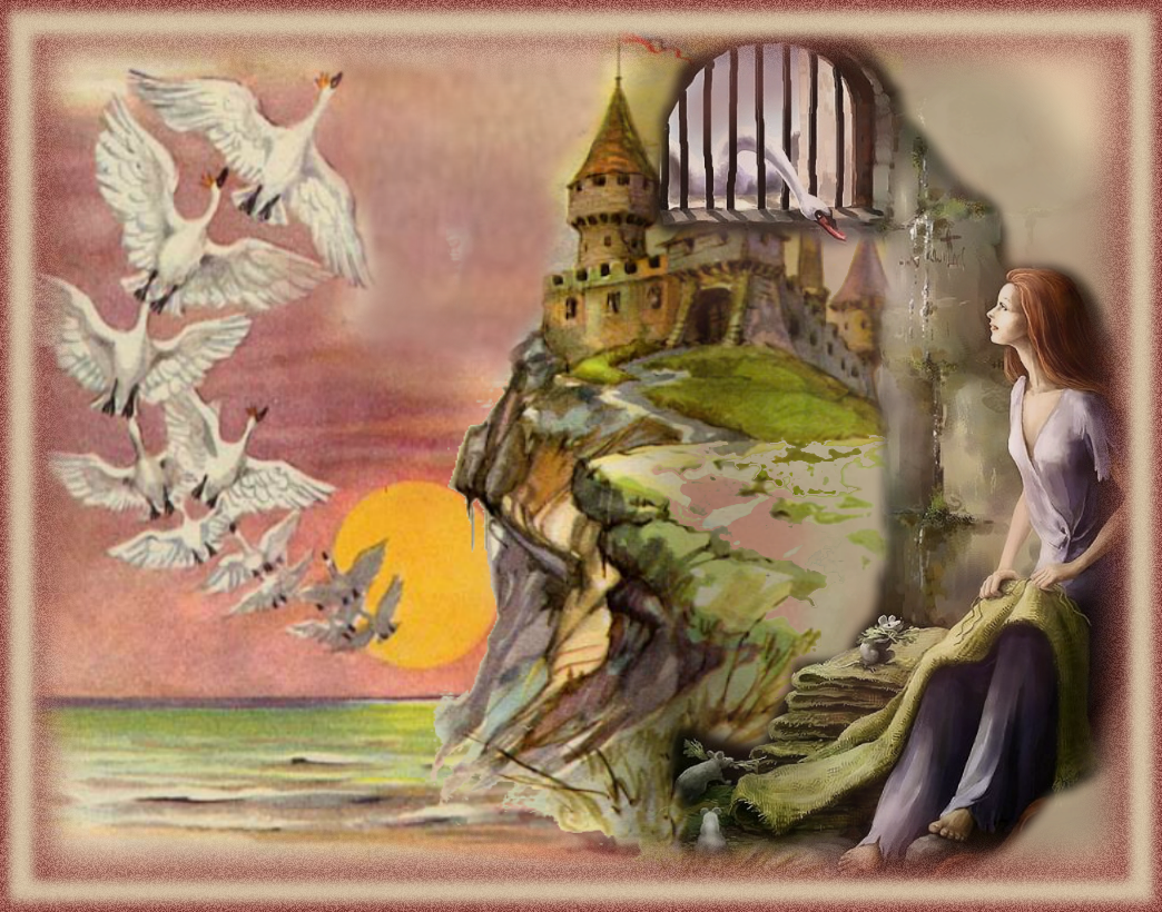 Картинки к сказкам андерсена дикие лебеди