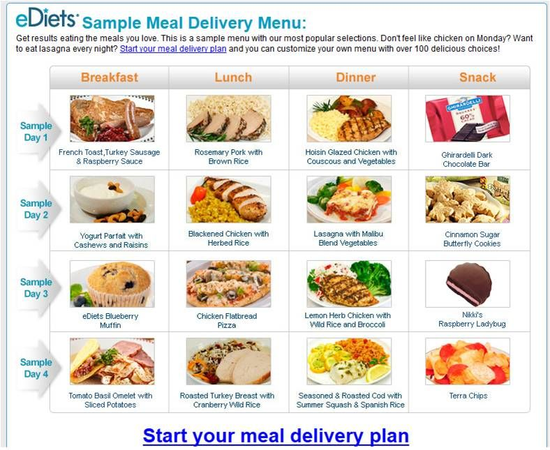 Mediterranean Diet Menu Samples  Ediets Sample Meal Delivery Menu
