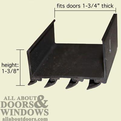 Door Bottom Sweep U Shaped Wrap Around Vinyl Brown Door Sweep Door Design Doors