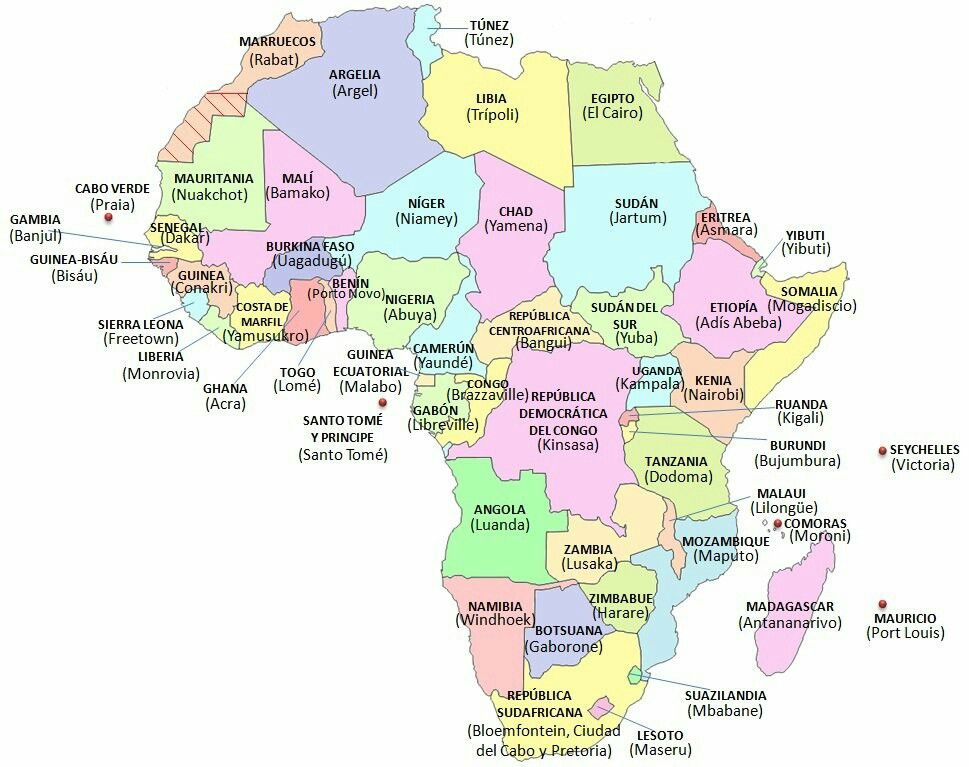 Pin by Erdős Edit on Africa Morroco travel, Africa map