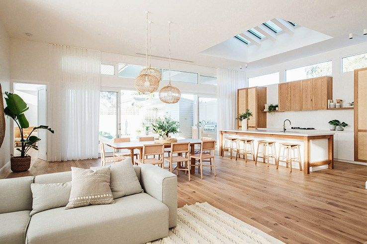 Kyal And Kara S Central Coast Australia Home Renovation Getinmyhome Scandi Kitchen And Dining Room Timber And White Kitche Classy Living Room Interior Home