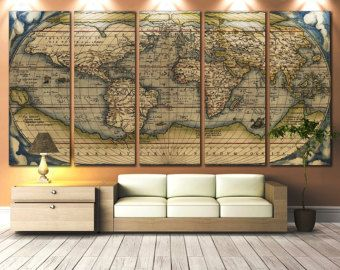 Colorful world map art extra large 5 panel canvas by zellartco colorful world map art extra large 5 panel canvas by zellartco gumiabroncs Images