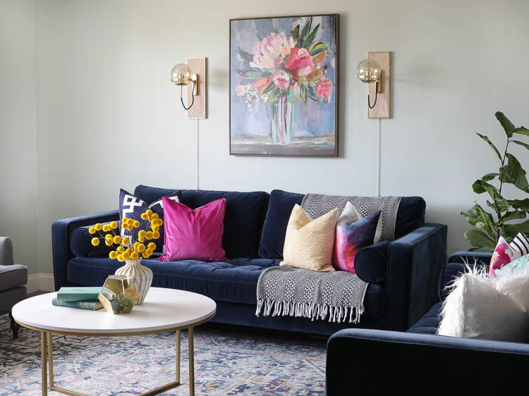 From Farmhouse To Modern Glam My Living Room Makeover With