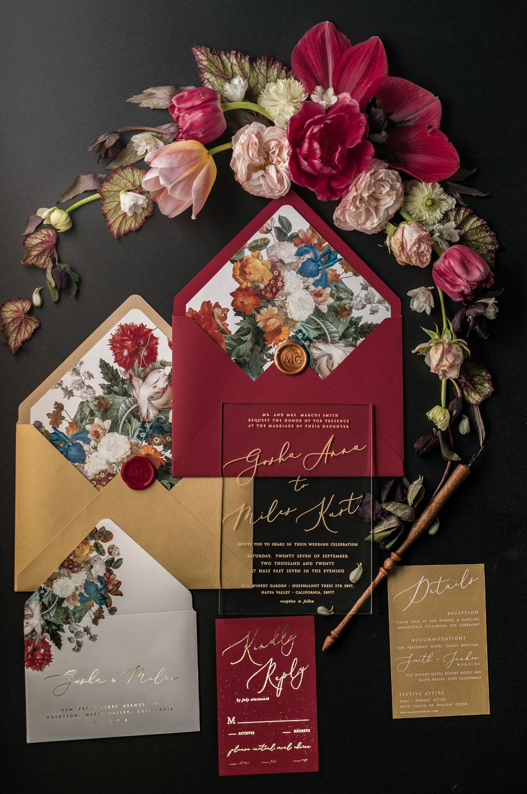 WEDDING INVITATIONS romantic | S + J | Pinterest | Vintage wedding ...