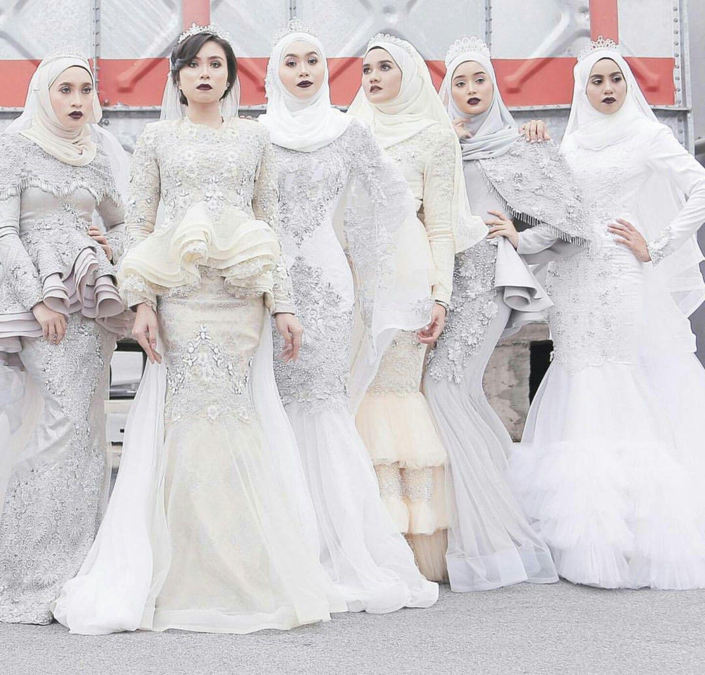 Pin oleh Jee di WD Gaun perkawinan, Model pakaian muslim