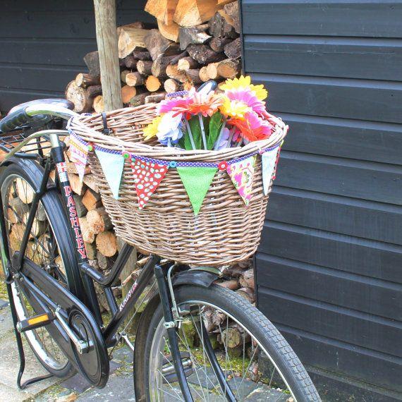 Bike Basket Decoration Mini Bunting Flag Garland Bright