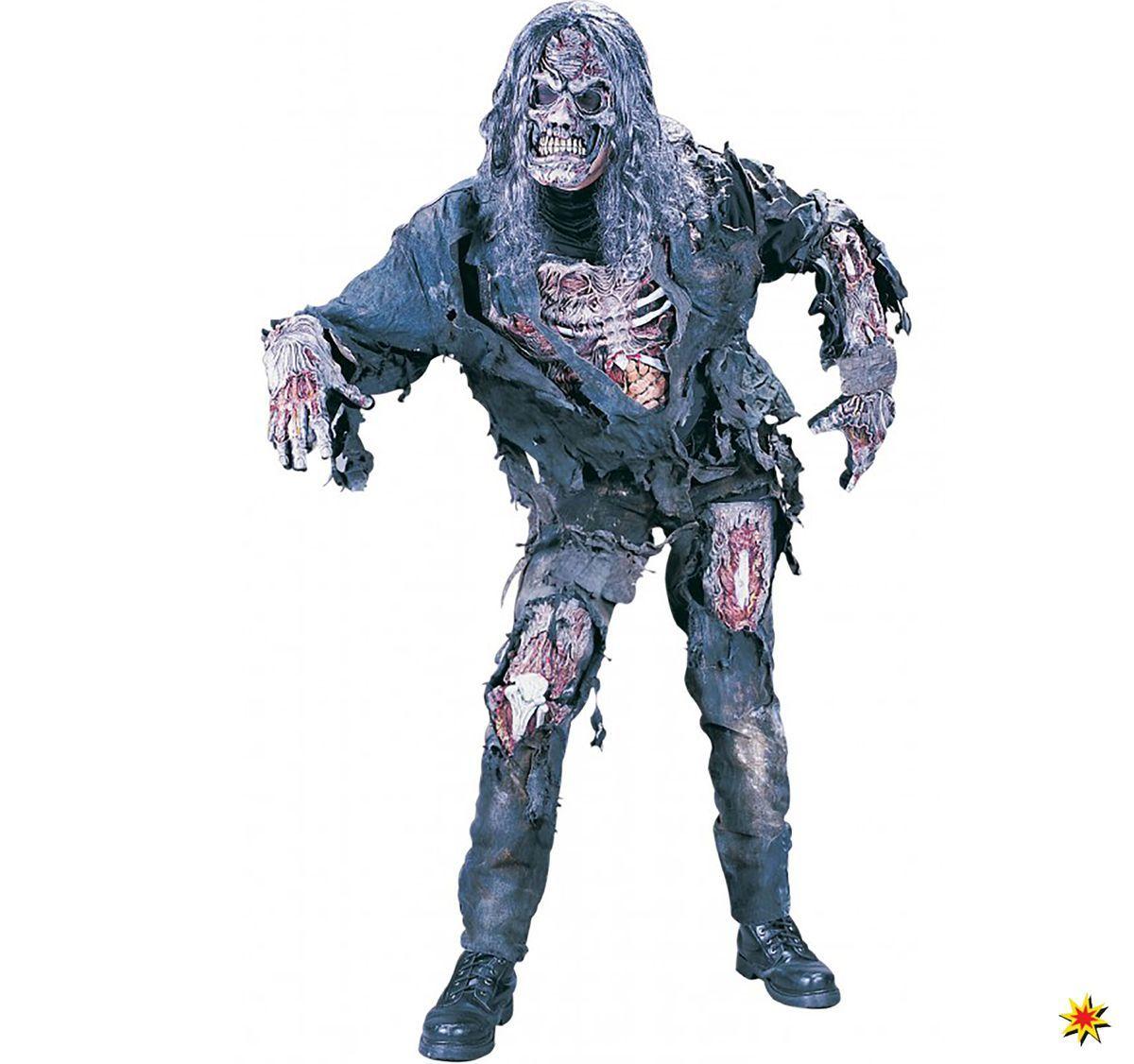 Zombie Untoter Halloween Herren Perücke