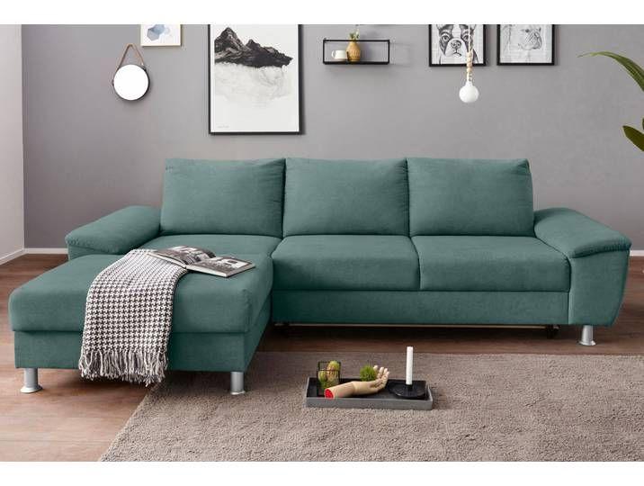 Exxpo Sofa Fashion Ecksofa Wahlweise Mit Bettfunktion Blau