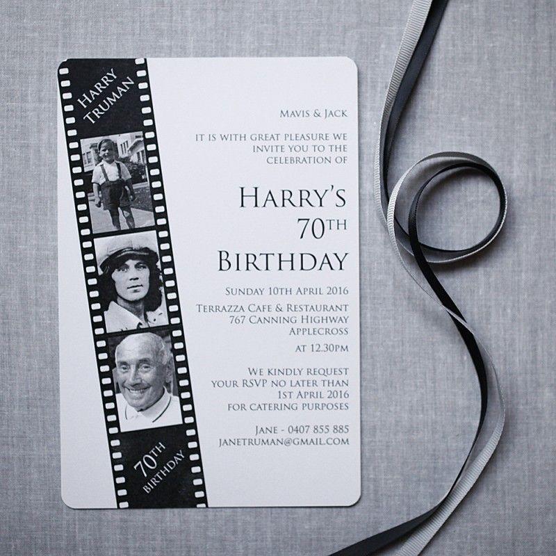 Film Strip 70th Premier Invitation & Paper Specialists