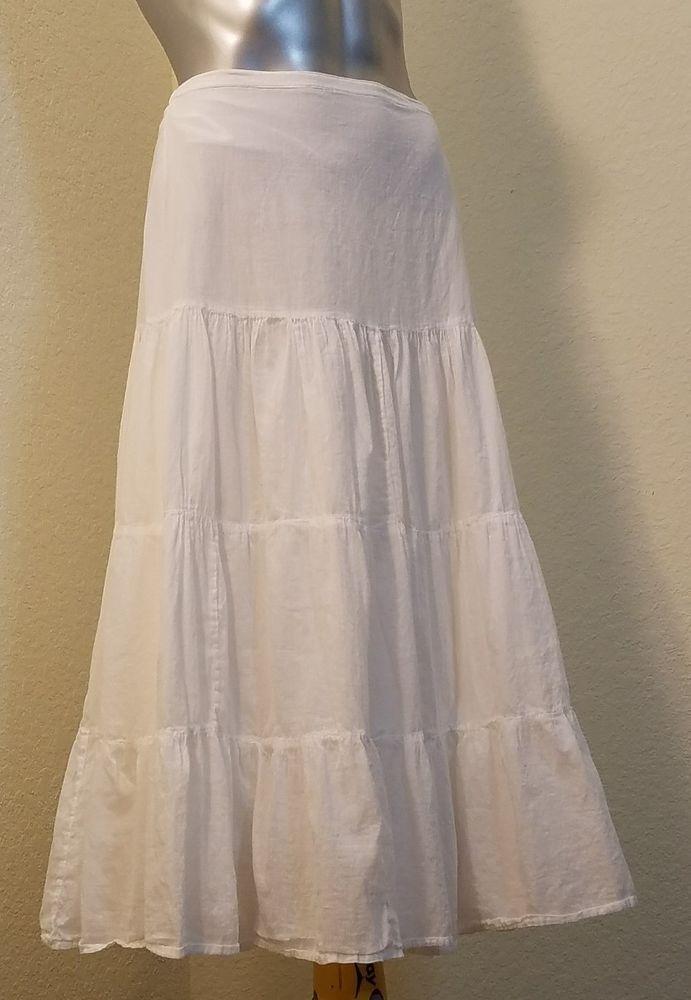 ee03e945e Bay Studio white skirt long 100% cotton size small