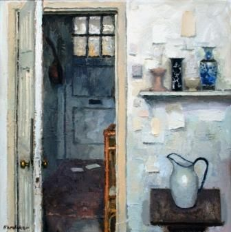 Interior with two Letters by British Contemporary Artist