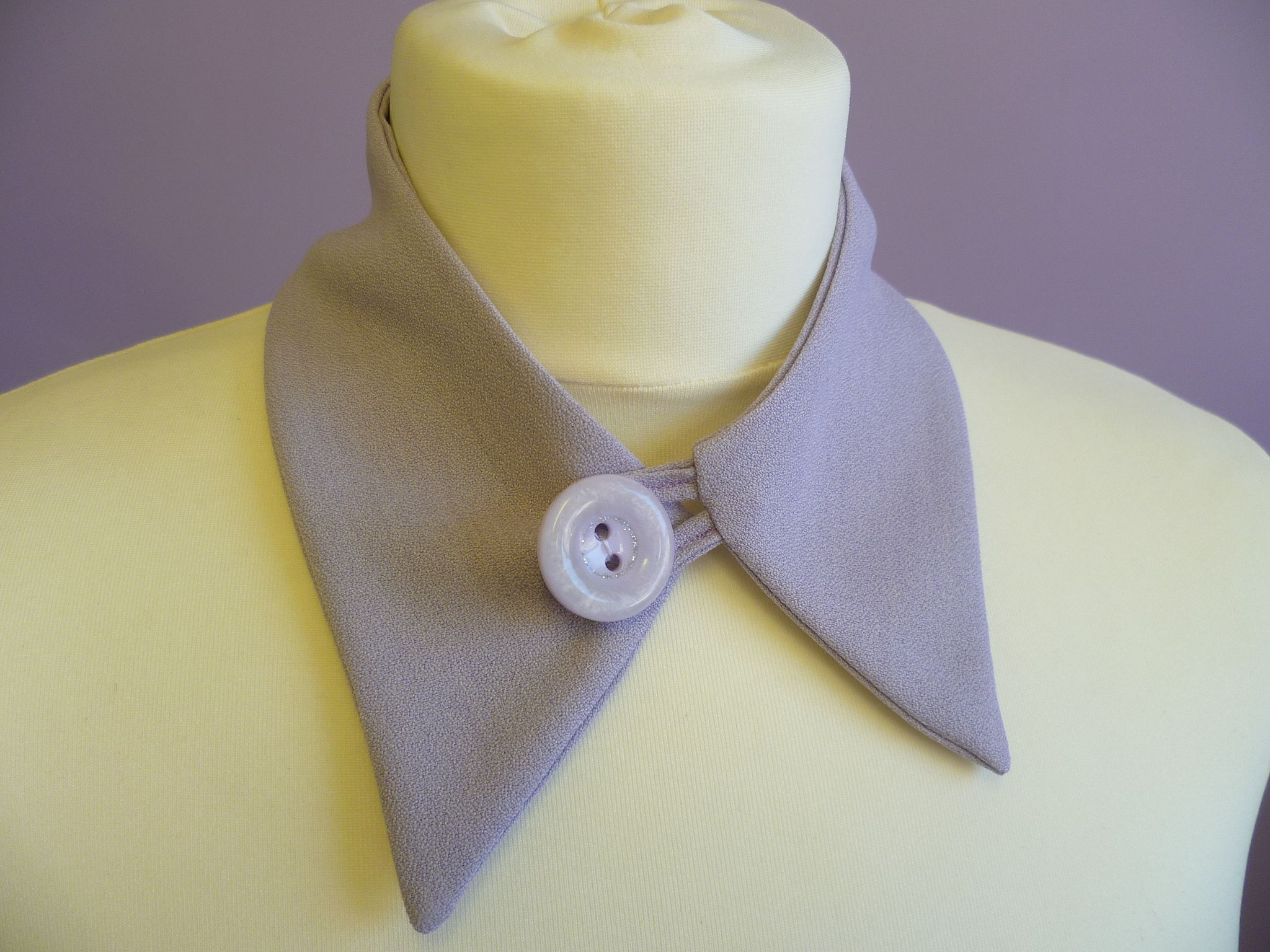Hannah Elizabeth Lilac Shirt Collar With Button And Button Loop