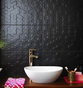 Hexagon Matt Black 3d Textured Mosaic Effect Ceramic Wall Tiles Sample Ebay Tile Bathroom Small Bathroom Tiles Black Wall Tiles