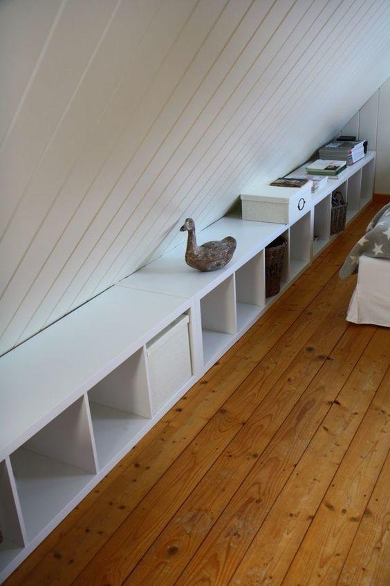 Regal für Dachschräge Stauraum für Schrägen | REGALRAUM