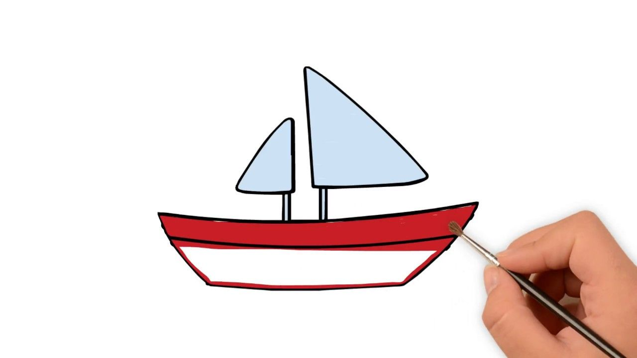 Learn How To Draw A Sailboat Cute How To Draw Funny Cartoons Co
