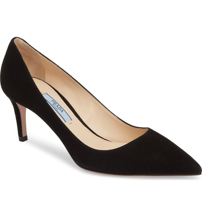 Black Suede   Pointed toe pumps